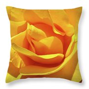 Office Art Prints Roses Orange Yellow Rose Flower 1 Giclee Prints Baslee Troutman Throw Pillow