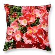 Office Art Rose Garden Landscape Art Pink Roses Giclee Baslee Troutman Throw Pillow