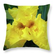 Office Art Yellow Iris Flower Irises Giclee Prints Baslee Troutman Throw Pillow