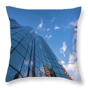 Office Buildings And Sky Throw Pillow