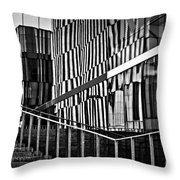 Office Buildings Reflections Throw Pillow