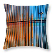 Office Colors Throw Pillow