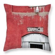 Office Door - Architecture Throw Pillow