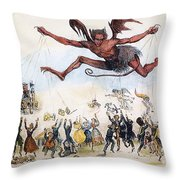 Office Hunters Of 1834: Throw Pillow