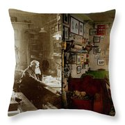 Office - Ole Tobias Olsen 1900 - Side By Side Throw Pillow