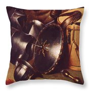 Officer Of The Marksman Society In Leiden Detail Throw Pillow