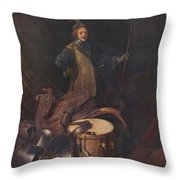 Officer Of The Marksman Society In Leiden Throw Pillow