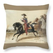 Officiers Du Highlanders  Throw Pillow
