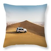 Offroading In The United Arab Emirates Throw Pillow