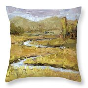 Ogden Valley Marsh Throw Pillow by David King