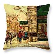 Ogilvys Department Store Downtown Montreal Throw Pillow
