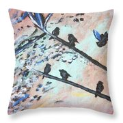 Oh Birdy Throw Pillow