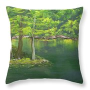 Oh Black Water Throw Pillow