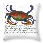 Oh De Crab Throw Pillow