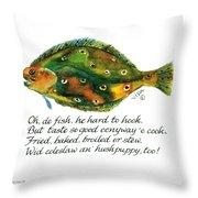 Oh De Fish Throw Pillow