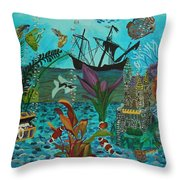 Oh Look A Castle  Throw Pillow