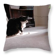 Oh Oh Here Comes Trouble Throw Pillow