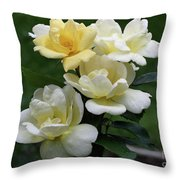 Oh So Pretty Roses Throw Pillow