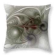 Oh That I Had Wings - Fractal Art Throw Pillow
