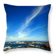 Oh The Beauty  Monterey Peninsula Ca  Throw Pillow