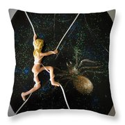 Oh What A Wicked Web Throw Pillow