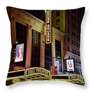 Ohio And State Theaters Throw Pillow