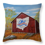 Ohio Bicentennial Barns 22 Throw Pillow