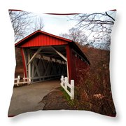 Ohio Covered Bridge Throw Pillow