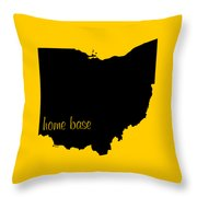 Ohio Is Home Base Black Throw Pillow