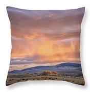 Ohio Pass Colorado Sunset Dsc07562 Throw Pillow