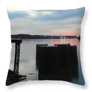 Ohio River View Throw Pillow