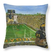 Ohio State Vs. Michigan 100th Game Throw Pillow
