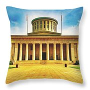 Ohio Statehouse Throw Pillow