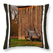 Ohio Wheelbarrel In Autumn Throw Pillow