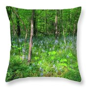 Ohio Wildflowers In Spring Throw Pillow