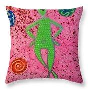 Ohm Alien Throw Pillow