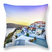 Oia, Santorini - Greece Throw Pillow