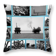 Oil And Gas Industry Throw Pillow