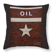 Oil And Texas Star Sign Throw Pillow