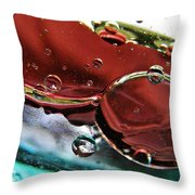 Oil And Water 23 Throw Pillow