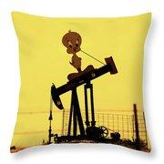 Oil Baron Tweety Throw Pillow