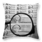 Oil Crisis, 1974 Throw Pillow