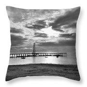 Oil Derrick - Point Loma From Coronado Beach San Diego C.1900 Throw Pillow