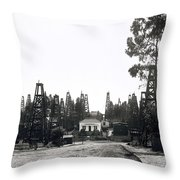 Oil Field Residential Los Angeles C. 1901 Throw Pillow