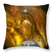 Oil From Heaven Throw Pillow