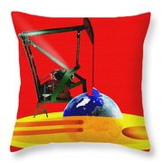 oil Throw Pillow