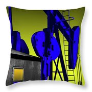 Oil Industry Well Pump Throw Pillow