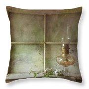 Oil Lamp Throw Pillow