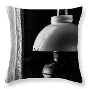 Oil Lamp On Table Throw Pillow
