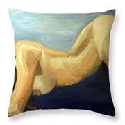 Oil Model Painting Throw Pillow
